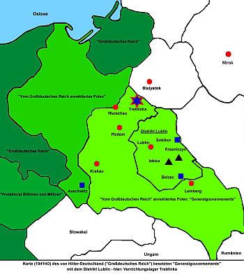 vernichtungslager karte Vernichtungslager Treblinka